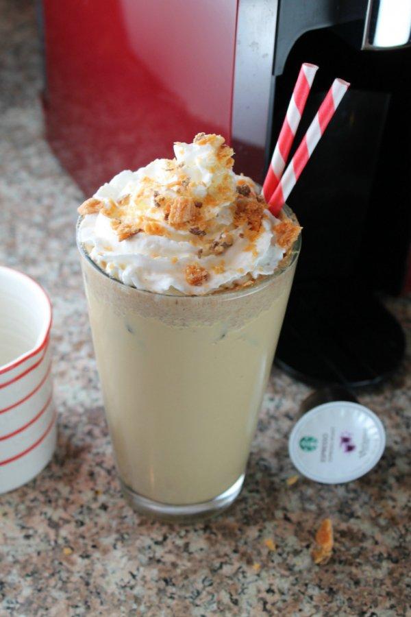 Butterfinger Iced Latte