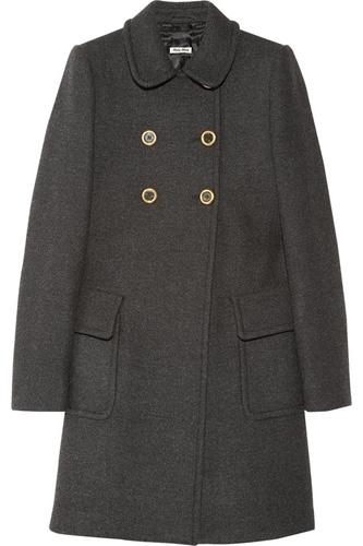 Miu Miu Wool Princess Coat
