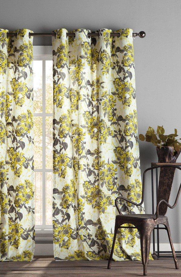curtain, yellow, window treatment, interior design, textile,