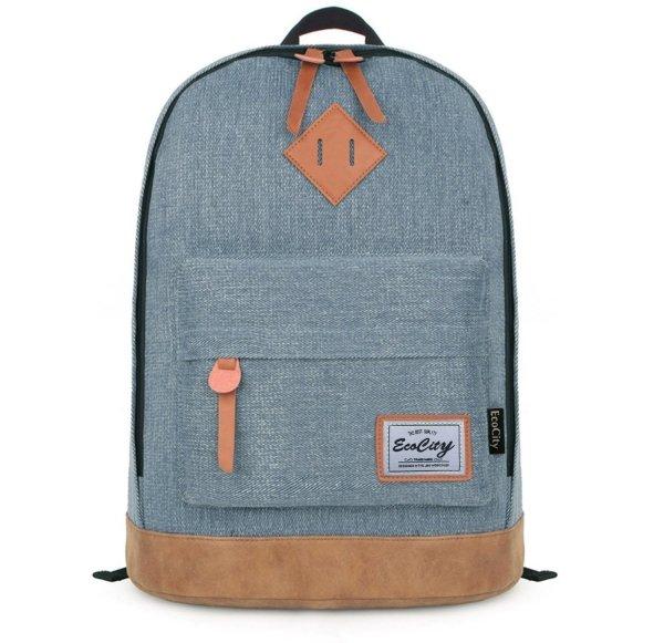 EcoCity Classic Vintage College School Laptop Backpack Bag