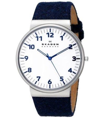 Men's Ancher Quartz 3 Hand Stainless Steel Blue Watch