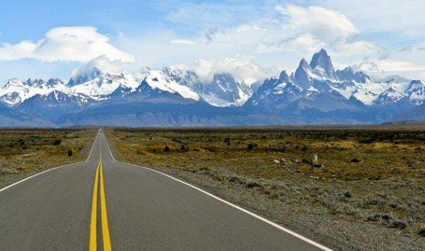 Fitz Roy, Monte Fitz Roy, mountainous landforms, road, mountain,