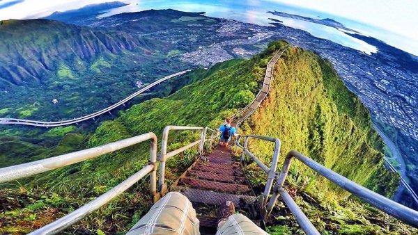 Haiku Stairs at O'ahu, Hawaii, USA