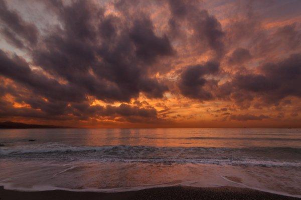 sky, horizon, sea, sunset, ocean,