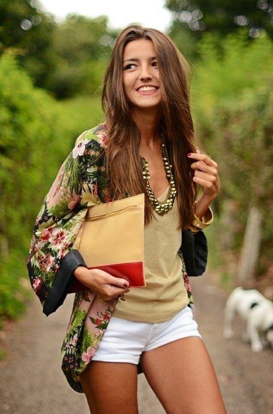 Floral Printed Kimono Jacket