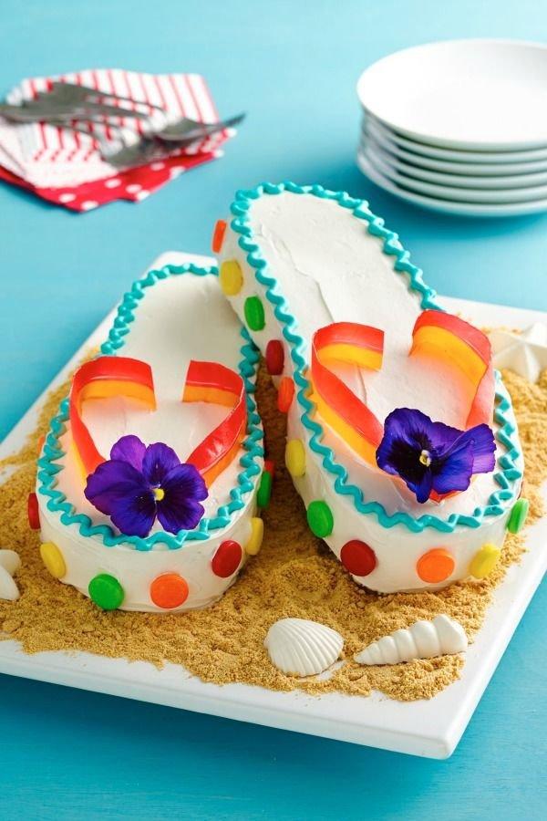 Happy Birthday Flip Flop Cake