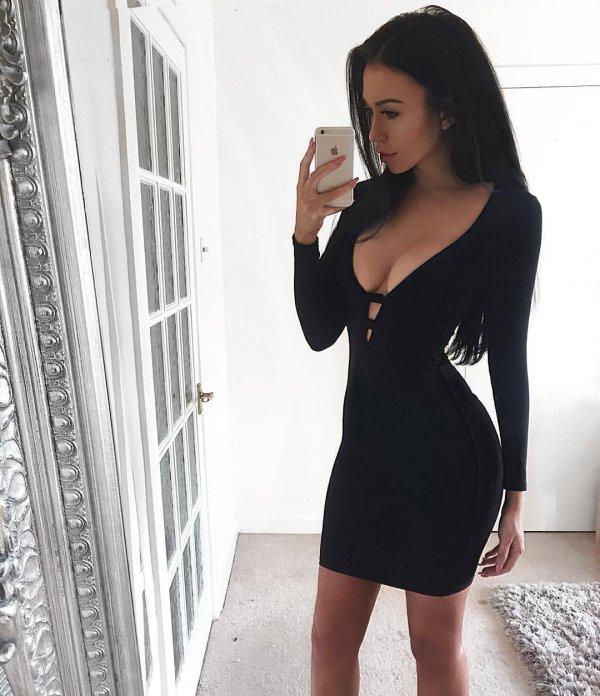 black, clothing, little black dress, fashion model, shoulder,