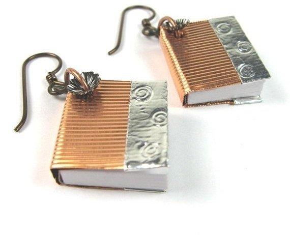 Book Earrings