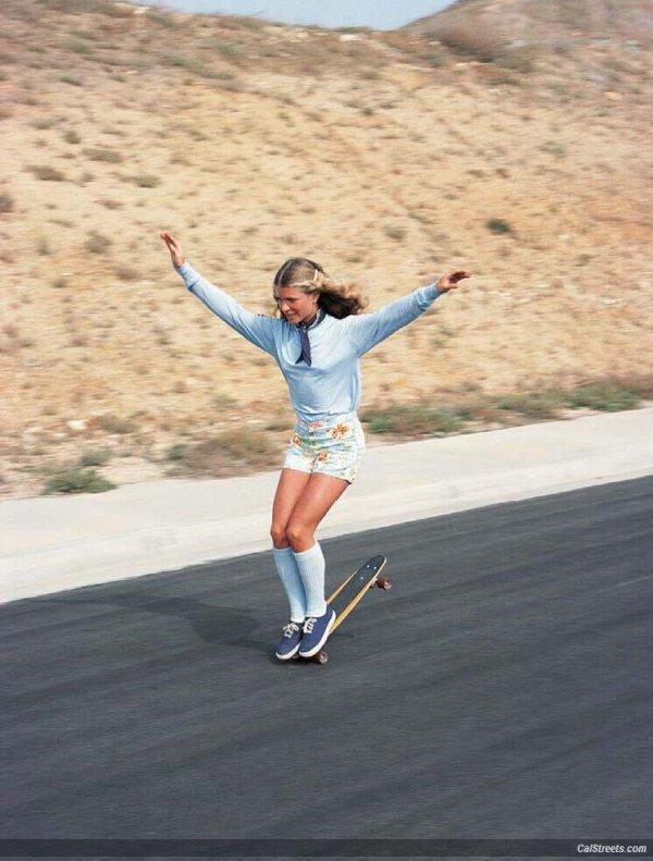 Retro - Ellen O'Neal, the Greatest Woman Freestyle Skateboarder in the 1970s