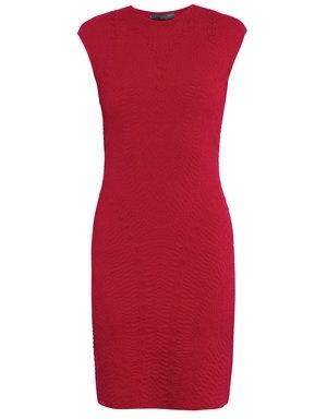 Alexander McQueen 3D Jacquard Knit Dress