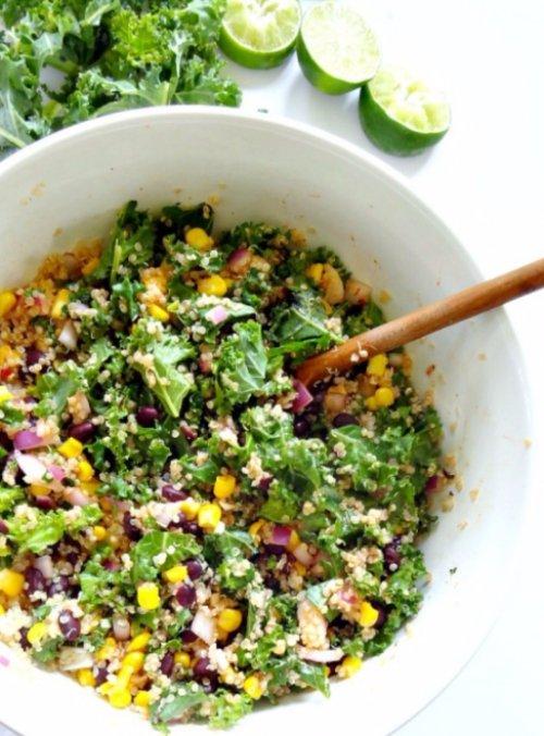 Spicy Kale and Quinoa Black Bean Salad