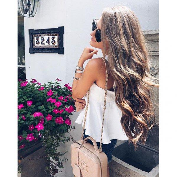 hair, clothing, hairstyle, spring, long hair,