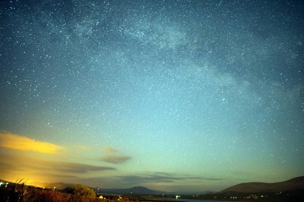 sky, nature, atmosphere, horizon, night,