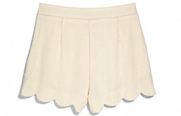 Scalloped Cream Shorts - TJ Maxx