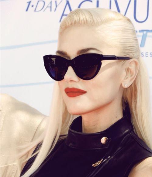 Gwen's Side Part Slickness