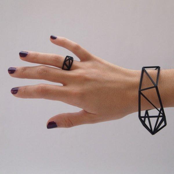 Geometric Ring and Bangle