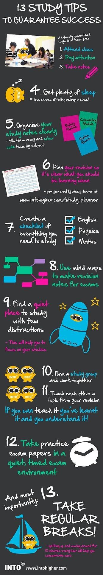 Study Tips to Guarantee Success