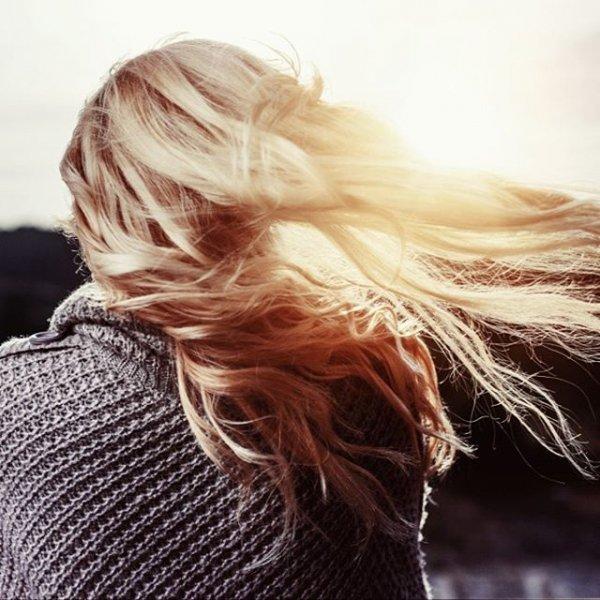 Her Cozy Sweater & Beach Hair