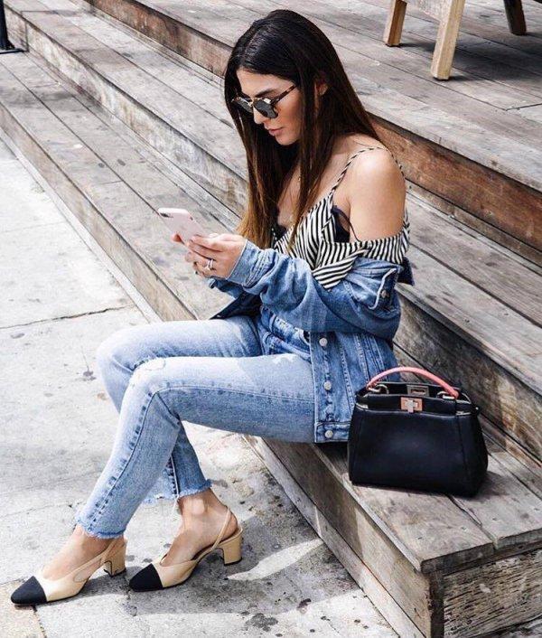 jeans, denim, fashion model, shoulder, sitting,