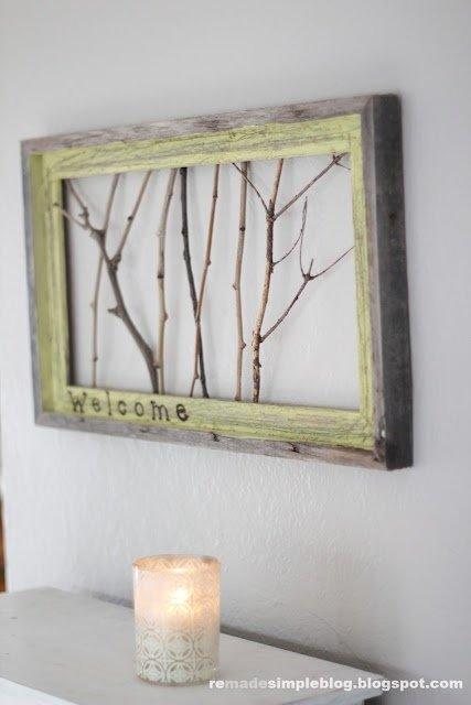 picture frame,wall,modern art,wood,lighting,
