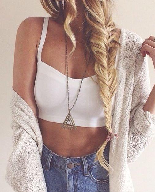 White Cropped Bralette