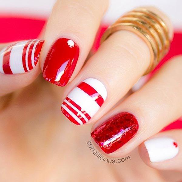 nail, finger, red, nail care, pink,