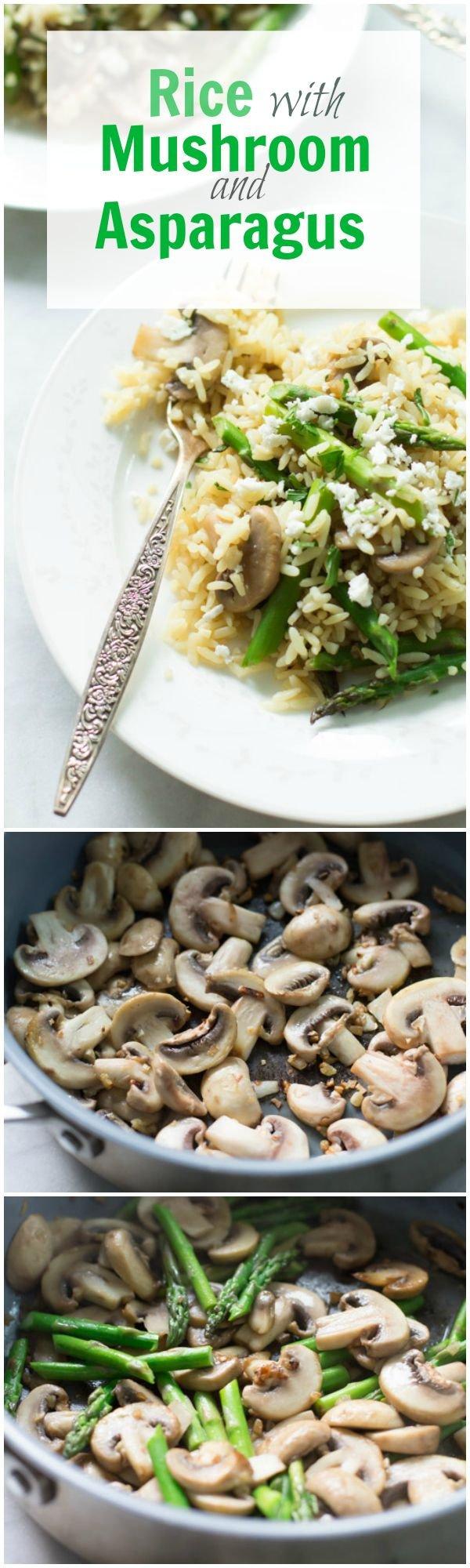 Rice with Mushroom & Asparagus