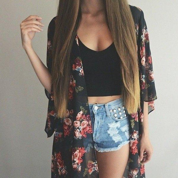 Black Rose Kimono