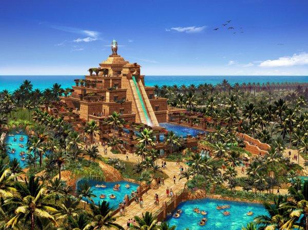 Aquaventure Waterpark in Dubai, UAE