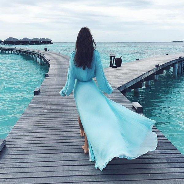 blue, clothing, sea, dress, vacation,