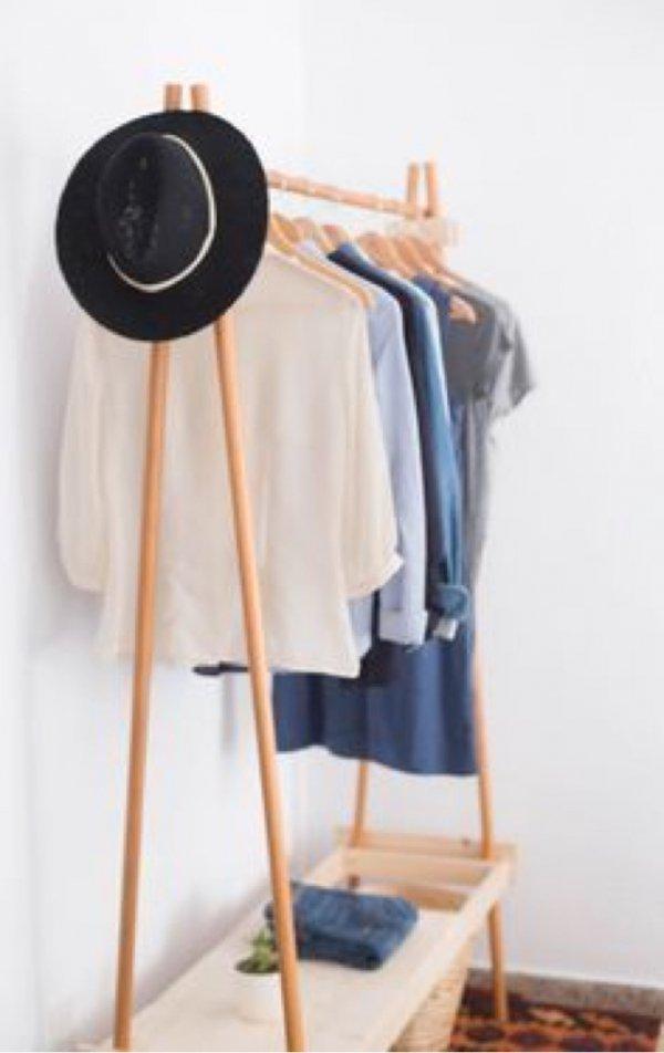 Clothes hanger, Product, Furniture, Room, Beige,