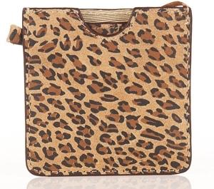 Topshop Leather Leopard Print Handbag Mirror