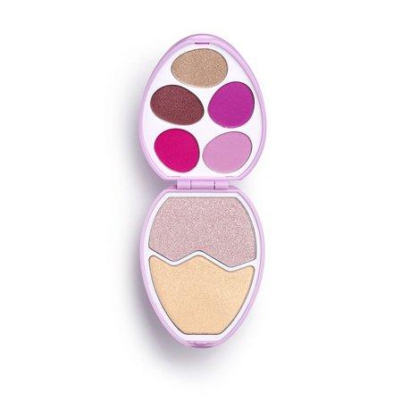 Eye shadow, Pink, Cosmetics, Eye, Material property,