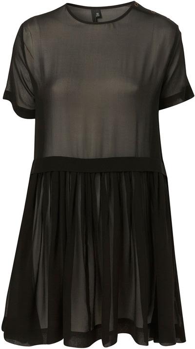 Topshop Black Sheer Oversized Dress by Boutique