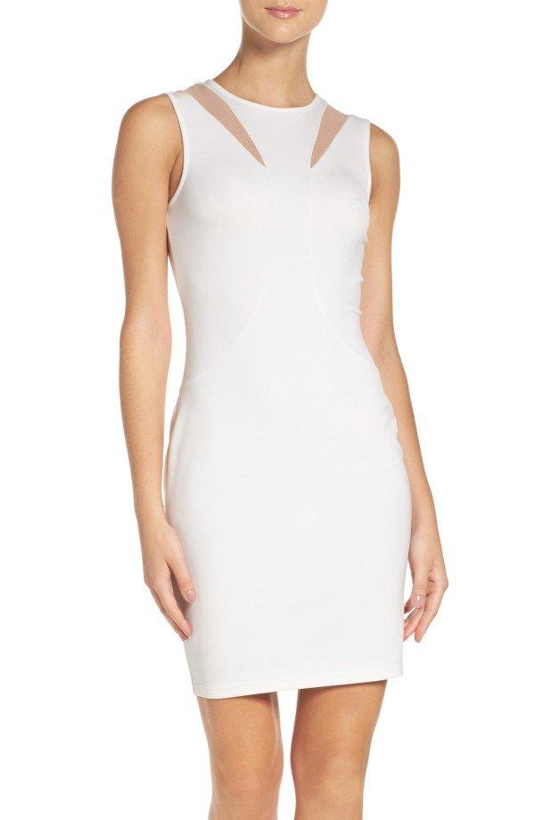 white, clothing, day dress, dress, sleeve,
