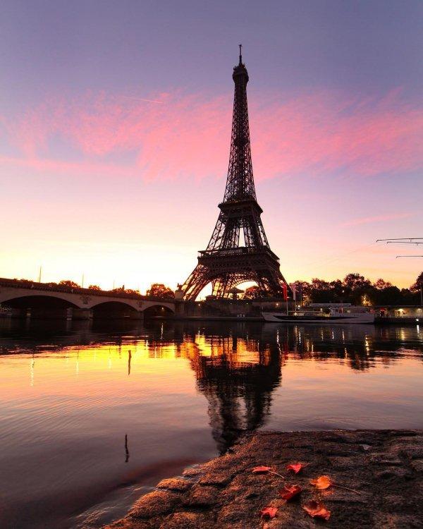 reflection, landmark, sky, dawn, tower,