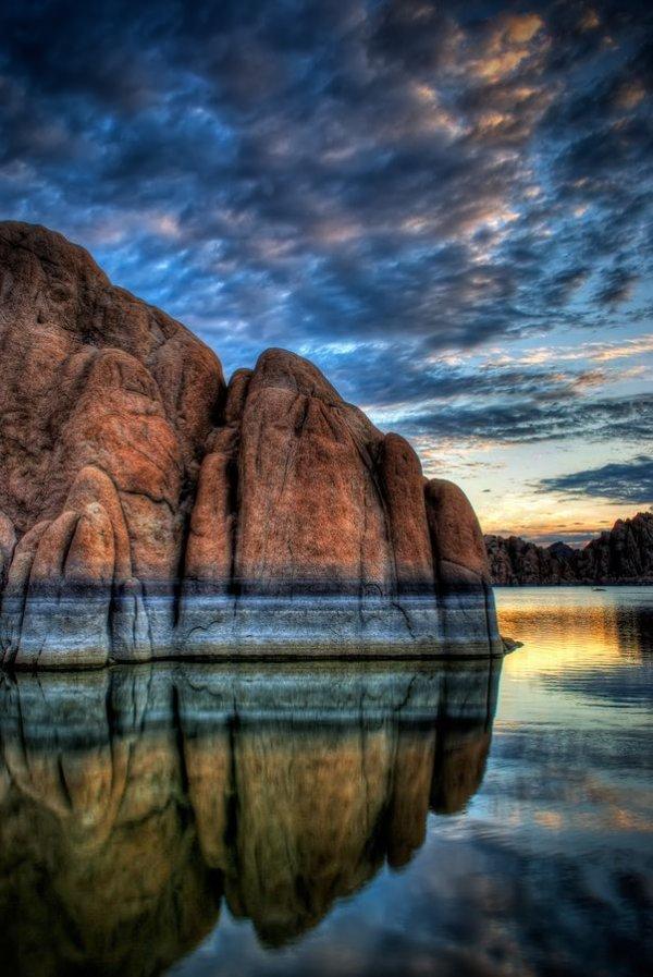 sky,nature,reflection,rock,cloud,