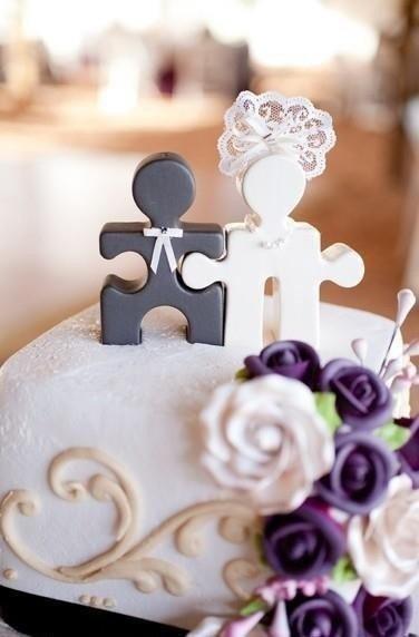 Puzzle Cake Topper
