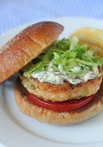 Shrimp Burgers with Sauce