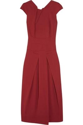 Roland Mouret Stretch-Crepe Midi Dress