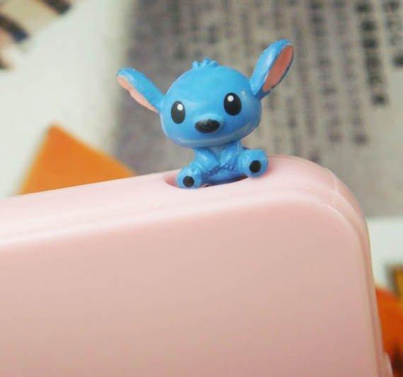 Blue Baby Lilo Stitch anti Dust Plug