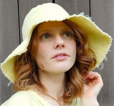 Sunshine Yellow Wide Brim Hat