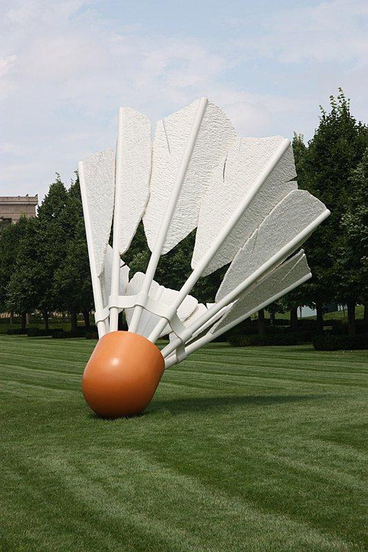 Nelson-Atkins Museum of Art, grass, sculpture, vehicle, jet aircraft,