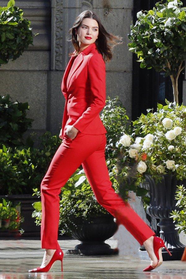 red, clothing, lady, fashion, leg,