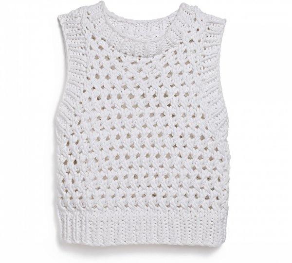 TJMAXX White Cable Knit Crop Top
