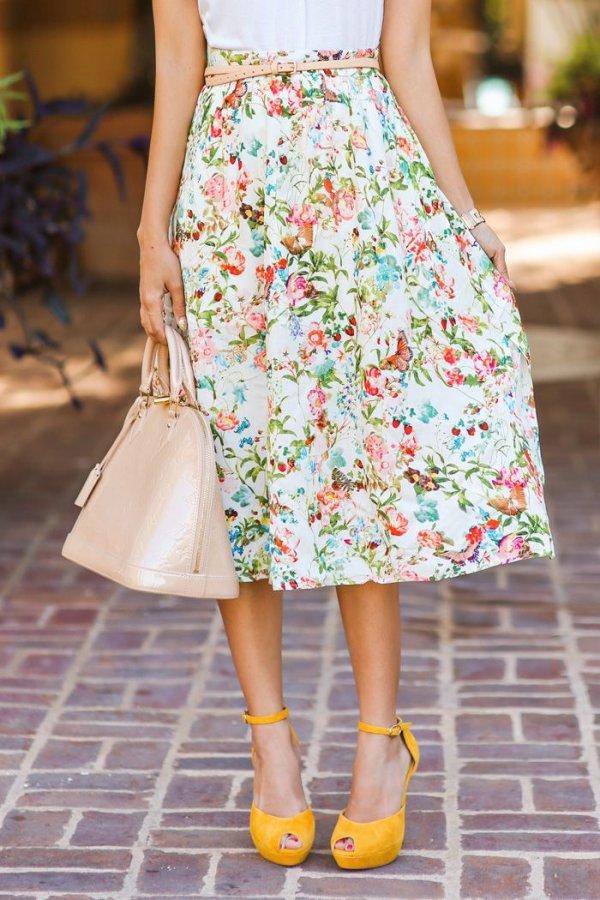 clothing,pink,yellow,dress,spring,