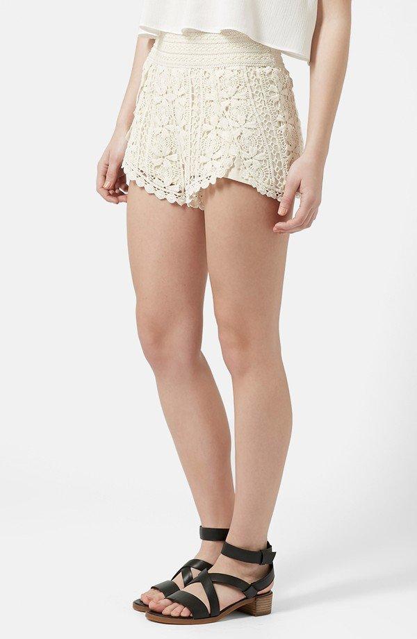 Scallop Crochet Shorts