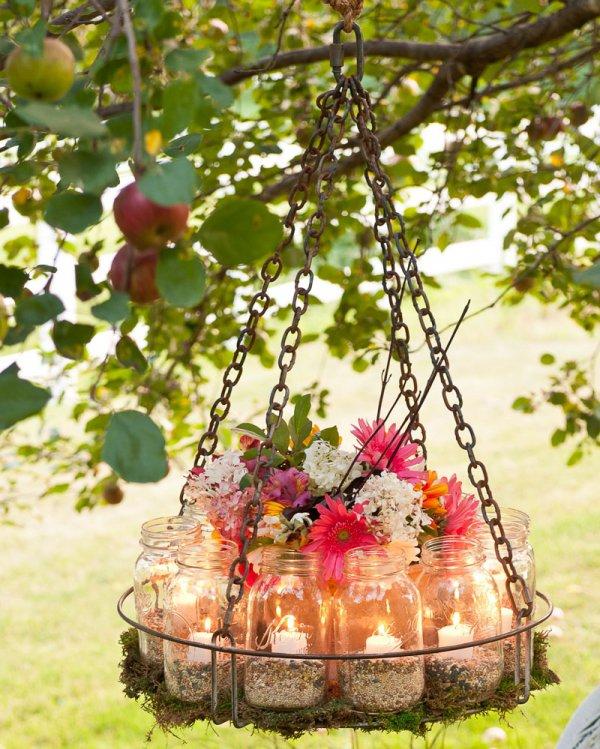 How to Make a Unique Garden Chandelier