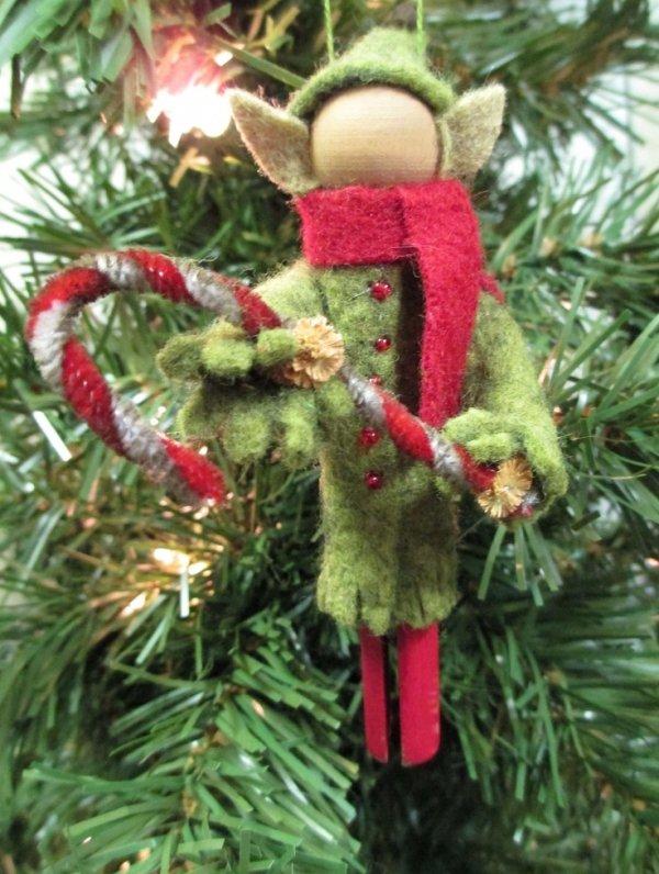 Elf Made from Felt