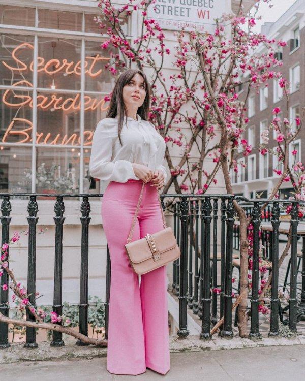Pink, Clothing, Street fashion, Blossom, Spring,